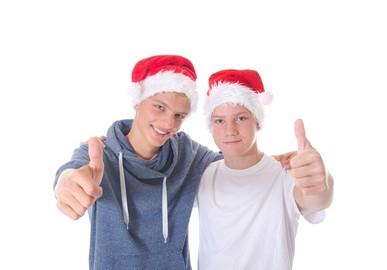 Teenager freuen sich auf Weihnachten